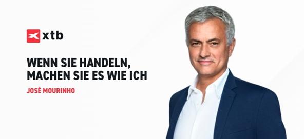 XTB Zusammenarbeit mit Mourinho