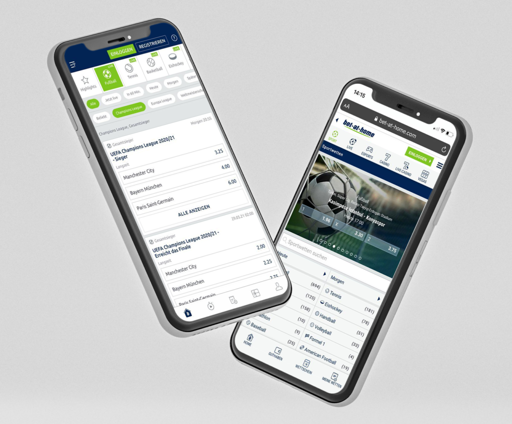 bet-at-home App & mobile Ansicht