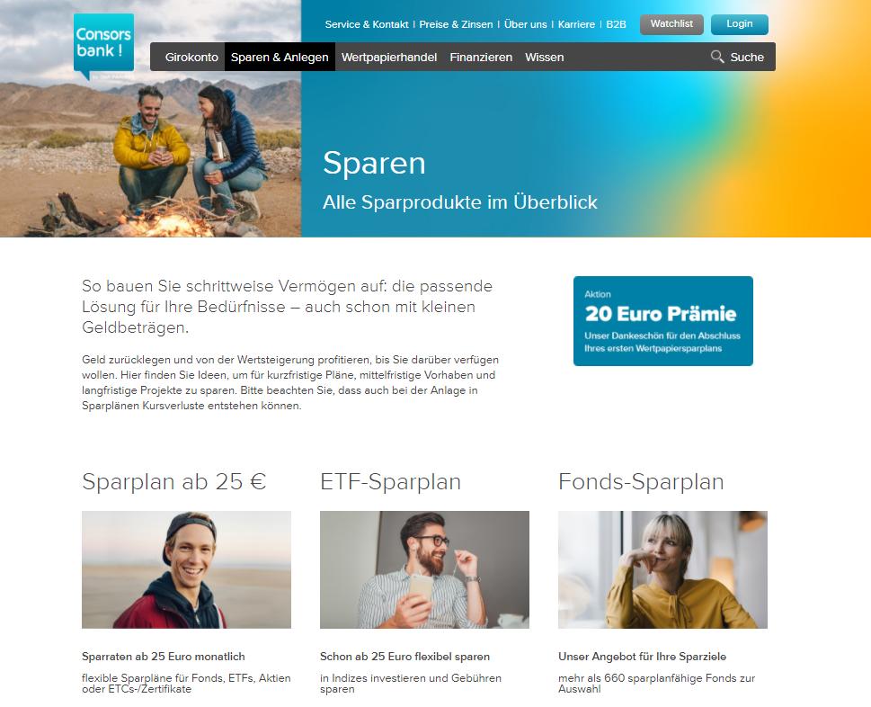 Consorsbank Test - Sparpläne