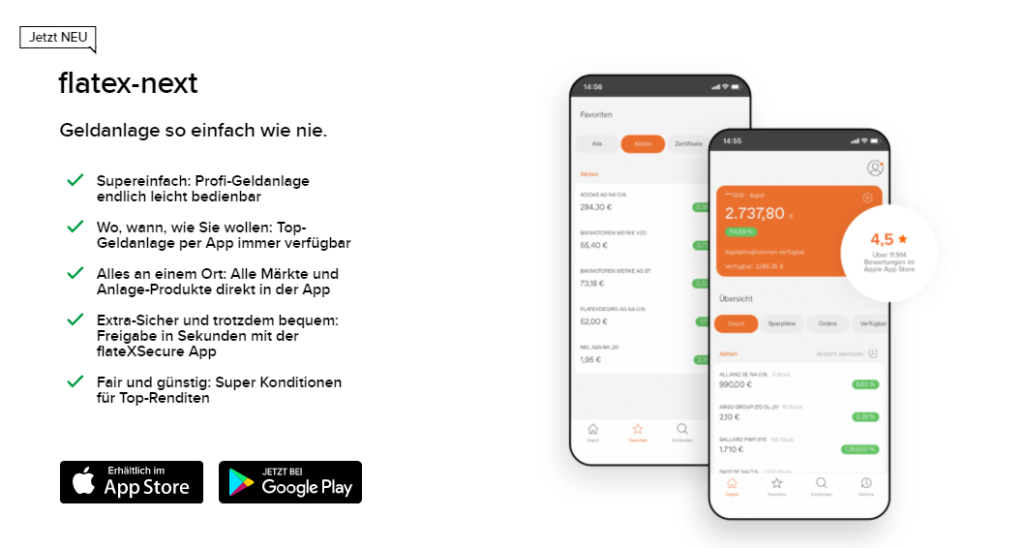 flatex-next App