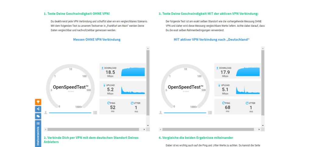 Speedtest Private Internet Access