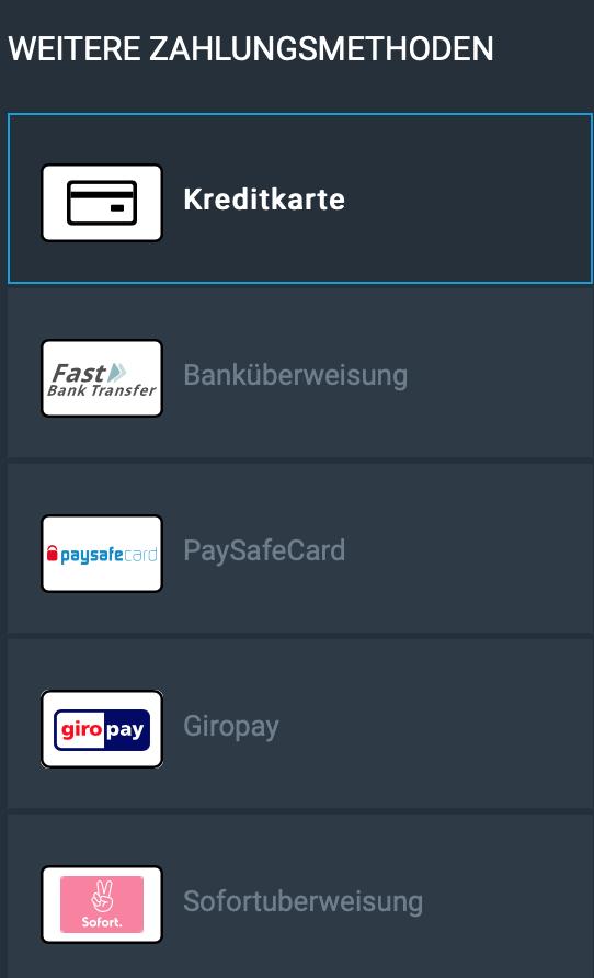 Einzahlungen bei HPYBET