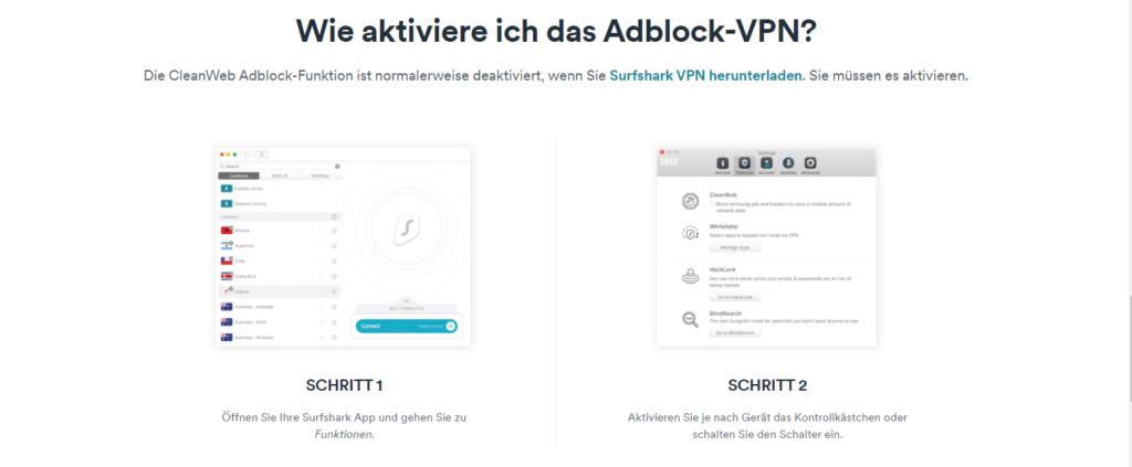 Adblock VPN Surfshark